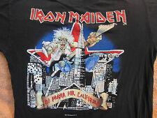 Vintage IRON MAIDEN Concert Shirt Lg 1991 CALIFORNIA Original Vintage Rare
