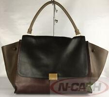 BIGSALE! AUTHENTIC $2550 CELINE Large Tricolour Trapeze Shoulder Bag