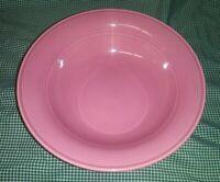 "Vtg Nancy Calhoun Solid Color Dark Rose 9"" Round Vegetable Bowl Japan EXC"