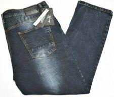 Marc Ecko Jeans Men 44x30 Slim Straight Fit Ribbed Stretch Denim Dark Blue P474
