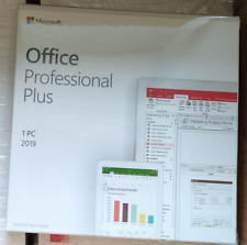 Microsoft Office 2019 Professional Plus For Windows PC Retail New Sealed DVD