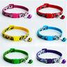 1pc Cat Dog Puppy Pet Collar Safety Neck Strap Bell Nylon Adjustable Kitten Camo