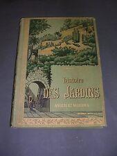 Botanique Jardins Mangin Histoire des jardins anciens et modernes 1887 gravures