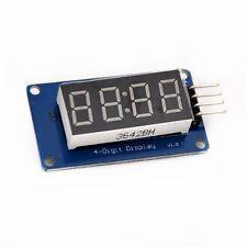 4 Digit Seven 7 Segment Display Red TM1637 Arduino Pi I2C 3.3V 5V *US Seller*