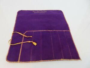 Royal Purple Anti Tarnish 6-Slot Place Setting Cloth Storage Bag Pouch 9.5 x 9.5