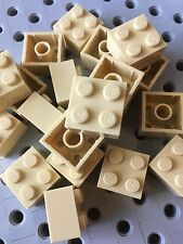 Lego New Bulk Lot Of 25 2x2 Tan Brick Blocks 2 X 2 Sand
