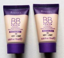 2 Rimmel Small BB Cream Foundation Matte Very Light 15ml each