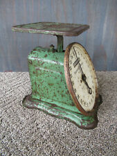 Antique Scale UNIVERSAL Kitchen, Household Family Old Original Green Paint 25 Lb