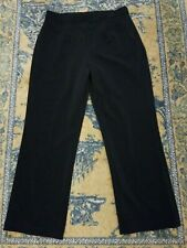 Chico's 2S Black Pants Pull On Hidden Elastic Waist Cotton Blend Stretch