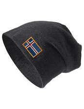 ICELAND Embroidered Embroidery Slouch Slouchy Fashion Beanie Skull Hat Cap