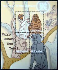 2004 MNH GRENADA YEAR OF THE MONKEY STAMPS SHEET WILD ANIMALS PRIMATE MONKEY APE