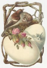 Victorian Die-Cut Card of Bird's & Eggs for Kidd's Cough Syrup
