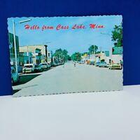 Postcard vintage post card ephemera hotel motel Cass Lake Minnesota MN chippewa
