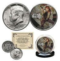 HAN SOLO - STAR WARS Genuine 1977 JFK Kennedy Half Dollar US Coin LICENSED