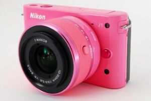Nikon 1 J1 10.1MP 10-30mm Lens Kit Pink [Exc+++] w/Box,8GB SD Card [622]