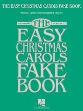 THE EASY CHRISTMAS CAROLS FAKE BOOK LYRICS CHORDS MELODIES SHEET MUSIC SONG BOOK