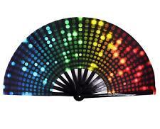 Amajiji Large Folding Hand Rave Fan for Women/Men, Chinease/Japanese Bamboo and