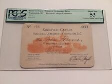 1933 President Franklin Roosevelt Inauguration Presidential Elector Ticket PCGS