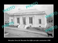 OLD LARGE HISTORIC PHOTO MUSCATINE IOWA, VIEW OF THE POST OFFICE c1908