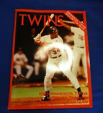 1993 Minnesota MN Twins Spring training Souvenir Program Kirby Puckett Cover