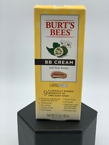 Burts Bees BB Cream MEDIUM SPF 15 With Noni Extract 1.7oz  Exp Date 06/20