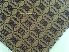 """WOVEN TABLE RUNNER BLACK TAN MUSTARD 30"""" by 13.75"""" Cotton Acrylic Country"""