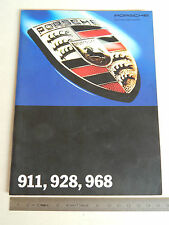 DEPLIANT ORIGINALE PORSCHE 911 993 928 968 964 SPEED. ITALIANO BROCHURE PROSPEKT
