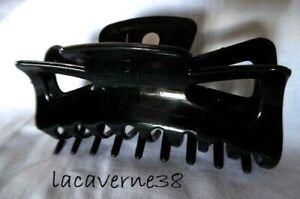 Pince à cheveux crabe 11cm noir barrette chignon accessoire cheveux long