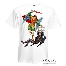 Saint Michael the Archangel Desytoy Devil Catholic Christian White T-Shirt III