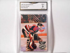 Dominik Hasek GRADED ROOKIE!! Mint 9!! 1991/92 Platinum #252 Blackhawks HOFer!!