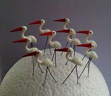 Miniature Dollhouse. Fairy Garden. Accessories-10 Pieces. Pelicans White. Lawn