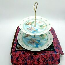 Precious Moments A Winter Wonderland Two Tiered Cookie Plate Enesco Dessert