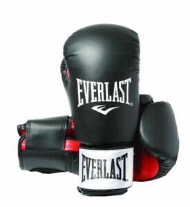 Everlast Men's Boxing Glove - Black/Red, 10 oz ergo moulded foam