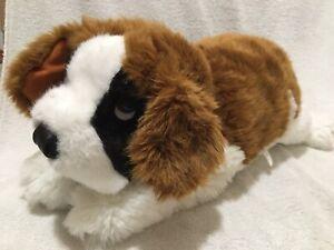 "RARE Folkmanis St Saint Bernard Full Body Puppet Dog Stuffed Plush Toy 20"""