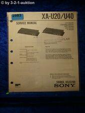 Sony Service Manual XA U20 / U40 Source Selector (#2983)