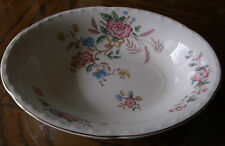 """Crooksville China Co Oval Bowl 9"""" Multi Color Flowers"""