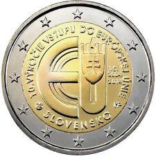 ESLOVAQUIA 2014. 2 EUROS CONMEMORATIVOS. 10º ENTRADA A LA UNION EUROPEA