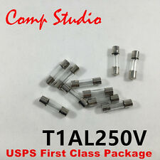 20pcs/lot 5mmX20mm 1A 250V Slow Blow Fuse Glass Tube Time-Delay Fuse US Stock