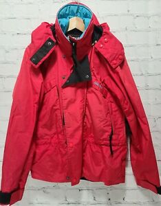Vintage Marmot Mountain Works Jacket Small Red Hooded Gore-Tex Shell Coat,   A62