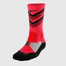 Nike Basketball Crew Socks Hyper Elite Pink/Maroon Men's 12-15 Sx4923-660