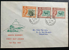 1961 Jesselton North Borneo First Day Cover FDC Locally Used