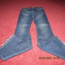 Aeropostale Denim Blue Jeans 1/2 R Womens Juniors 1 2 AERO Hailey Flare