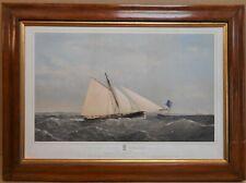 Cutter Yacht Sphinx Winning Albert Cup Original Lithograph by Thomas Dutton 1867