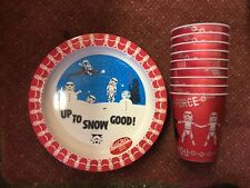Star Wars Christmas plates and drinking cups childrens Microwaveable x14 pieces
