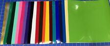 "12 Hojas 12""x12"" Oracal 651 Craft Adhesivo Vinilo Para Cricut elegir o mezcla de color"
