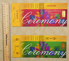 1996 Atlanta Olympics OPENING and CLOSING CEREMONIES 2-ticket set, limited issue
