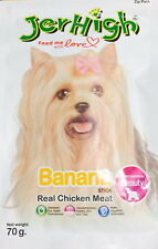 "JERHIGH NATURAL DOG TREAT CHEWY SNACK ""BANANA"" FLAVOR 100% MEAT 70g."
