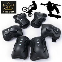 Kingdom GB Kids Knee/Elbow/Wrist Triple Pad Set Bike Skateboard Rollerskates