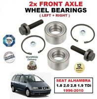 FOR SEAT ALHAMBRA 1.8 2.0 2.8 1.9 TDi 1996-2010 FRONT LEFT RIGHT WHEEL BEARINGS