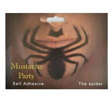 Spider Shaped Fake Moustache/Mustache Self Adhesive Fancy Dress Accessories